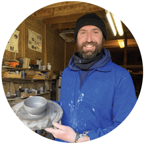 Mike the Potter with bowl