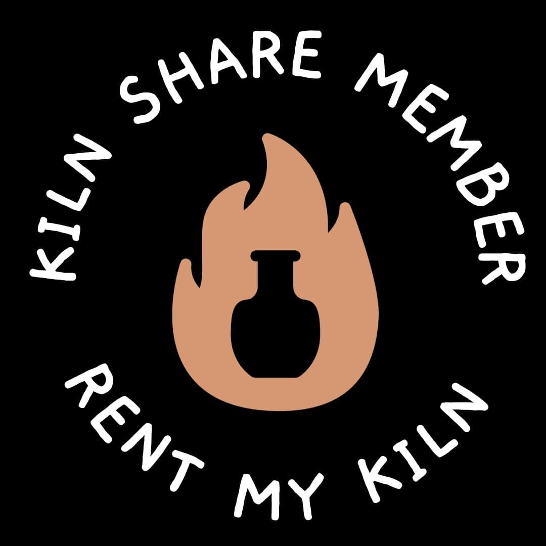 Rent my kiln - Kiln Share badge LARGE